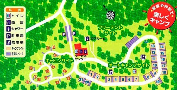 那須野が原公園オートキャンプ場 マップ