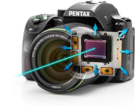 PENTAX K-70 ボディ内手ぶれ補正機構SR