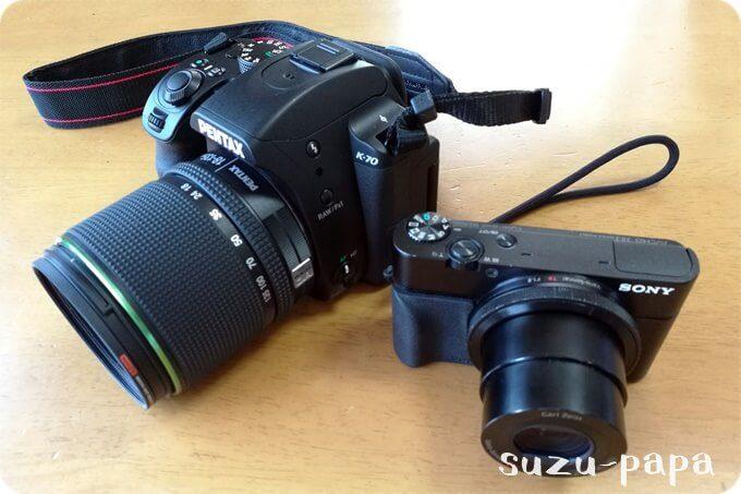 PENTAX K-70とSONY RX100