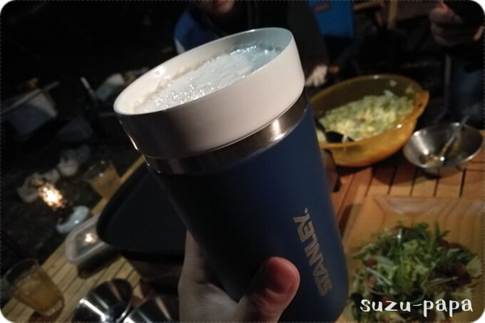 GOタンブラー CERAMIVACでビール