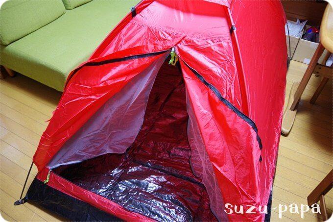 格安テント 入口
