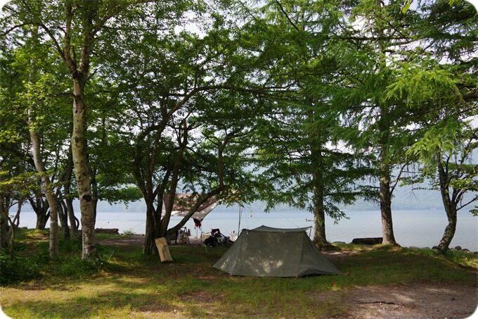 菖蒲ヶ浜キャンプ場 パップテント