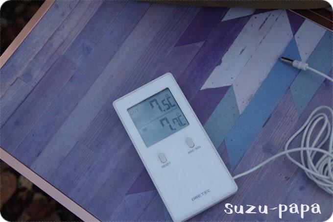 菖蒲ヶ浜10月14日朝の気温