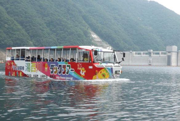 ダックツアー 湯西川ダム湖