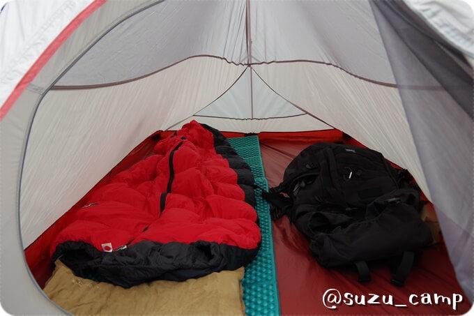 みよりふるさと体験村キャンプ場 テント内部