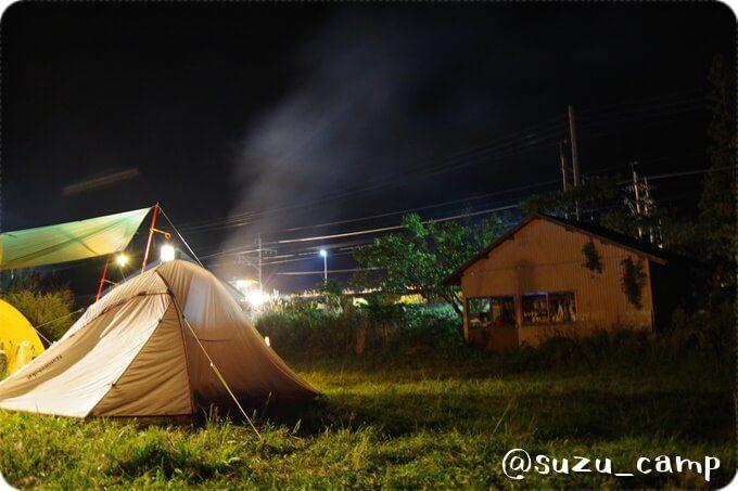 みよりふるさと体験村キャンプ場 夜景