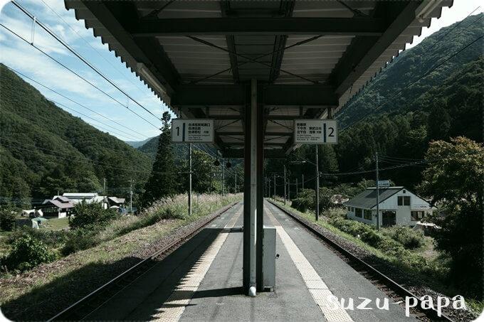 みよりふるさと体験村 駅ホーム