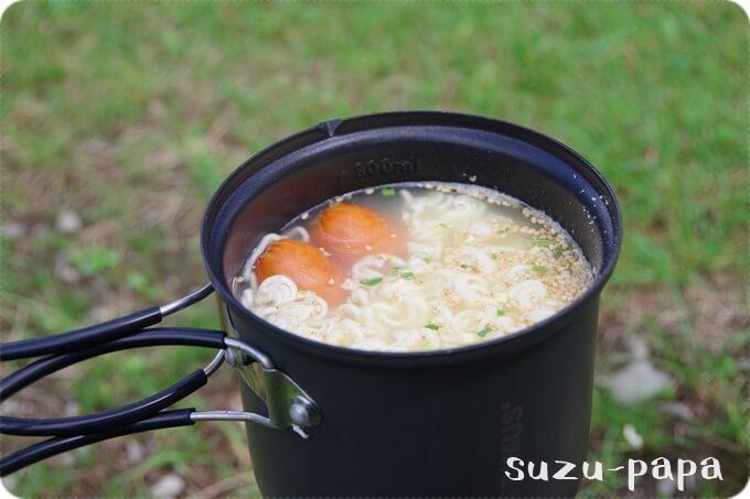 日光湯元キャンプ場 昼食