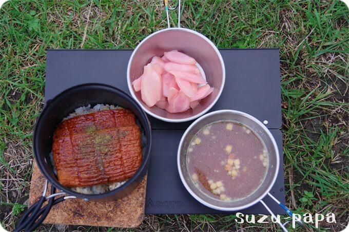 日光湯元キャンプ場 夕食
