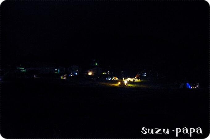 日光湯元キャンプ場 夜