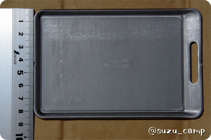 BE-PAL付録 肉厚鉄板mini 寸法