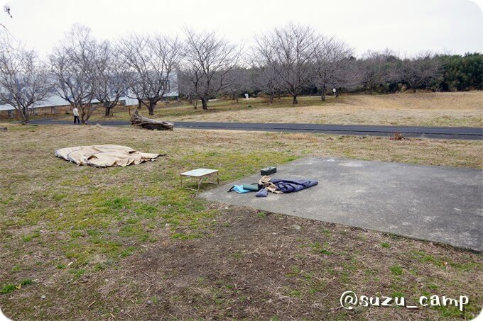 つがスポーツ公園キャンプ場 設営