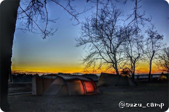 夜明け つがスポーツ公園キャンプ場