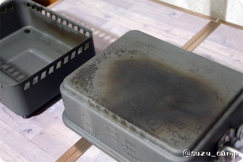 Esbit 1100mlクックセット 炭汚れ