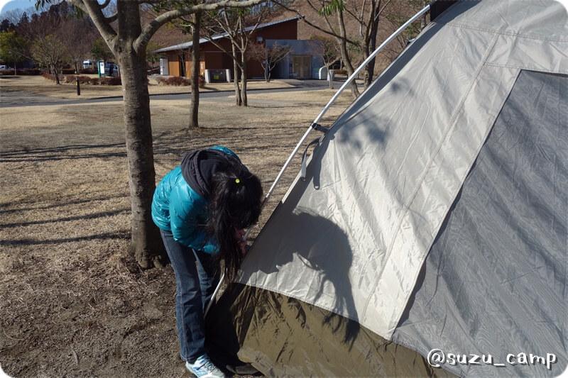 大子グリンヴィラ 越冬キャンプ2015 コールマン ウェザーマスター2ルームハウスⅡ