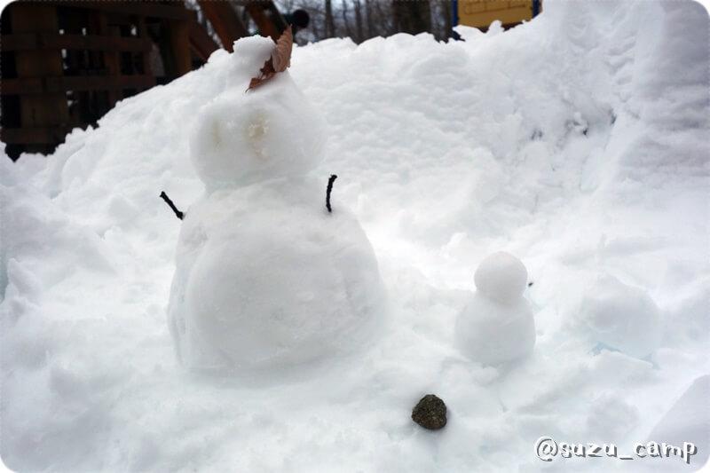 メープル那須高原キャンプグランド 雪だるま