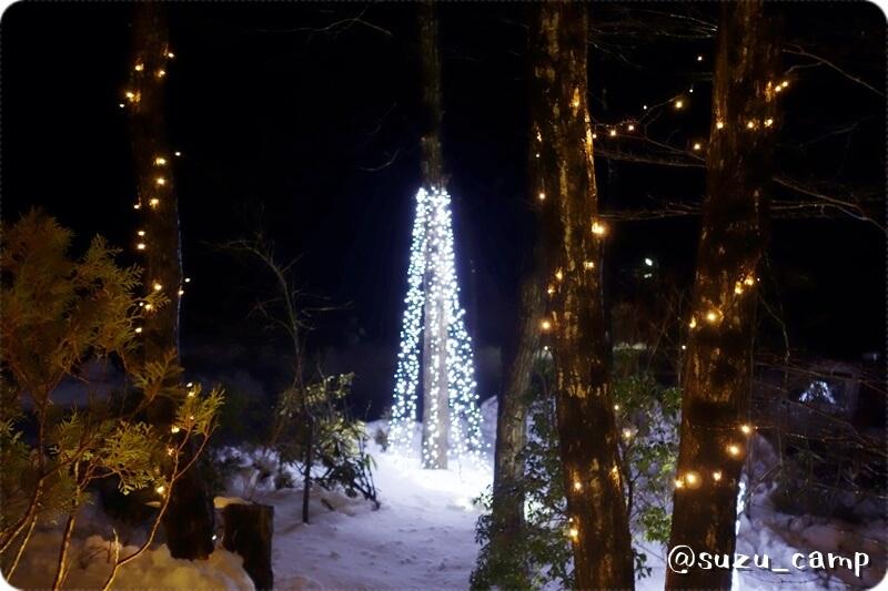 メープル那須高原キャンプグランド クリスマスイルミ
