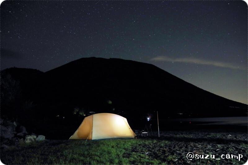 菖蒲ヶ浜キャンプ場 星空