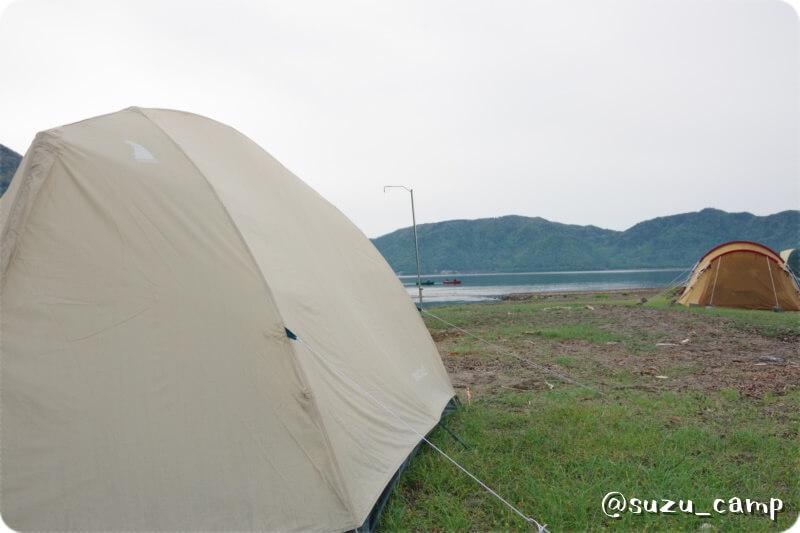 菖蒲ヶ浜キャンプ場 ムーンライトテント 朝