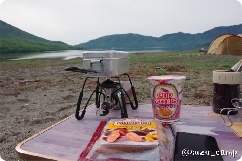 菖蒲ヶ浜キャンプ場 朝食