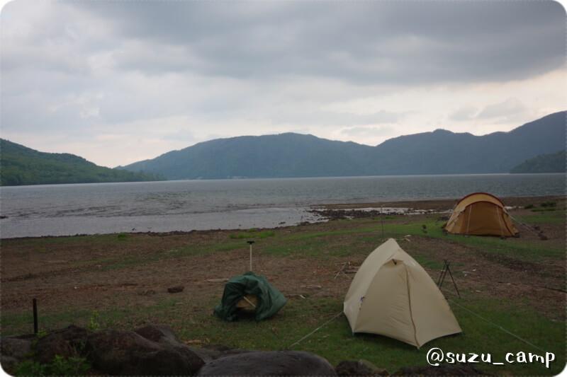 菖蒲ヶ浜キャンプ場 雷雨