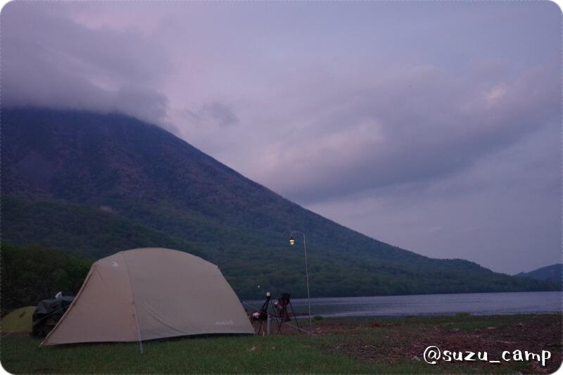 菖蒲ヶ浜キャンプ場 雨上がりの夕方