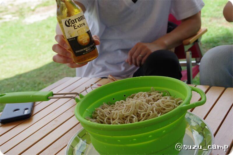 丸沼高原 流水麺 昼食