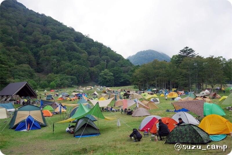 湯元キャンプ場 混雑