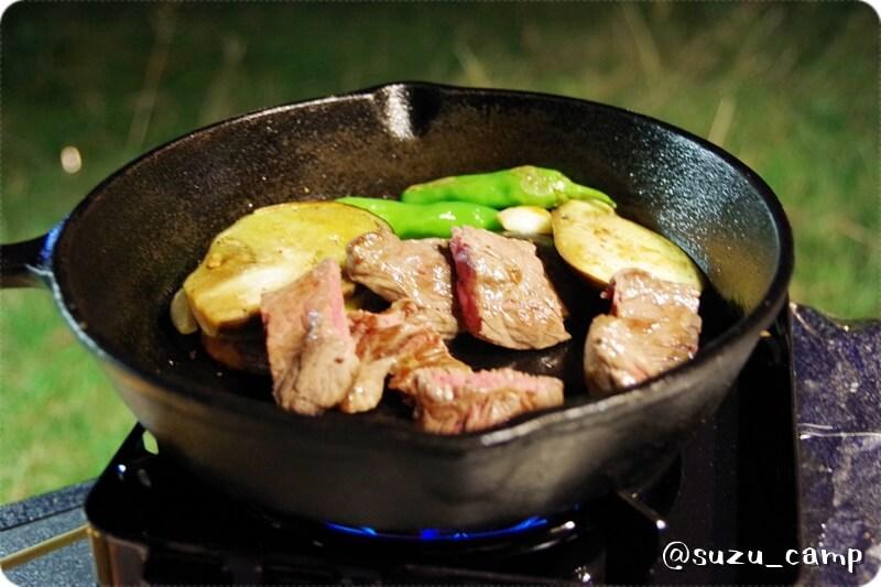 湯元キャンプ場 焼肉風景