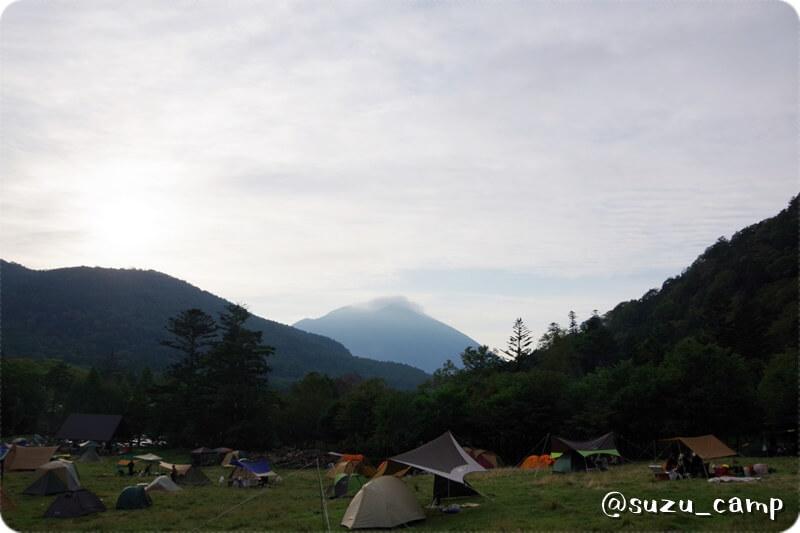 湯元キャンプ場 夜明け
