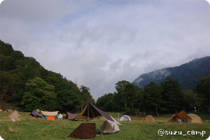 湯元キャンプ場 朝