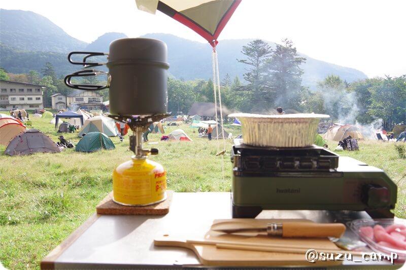 湯元キャンプ場 朝食