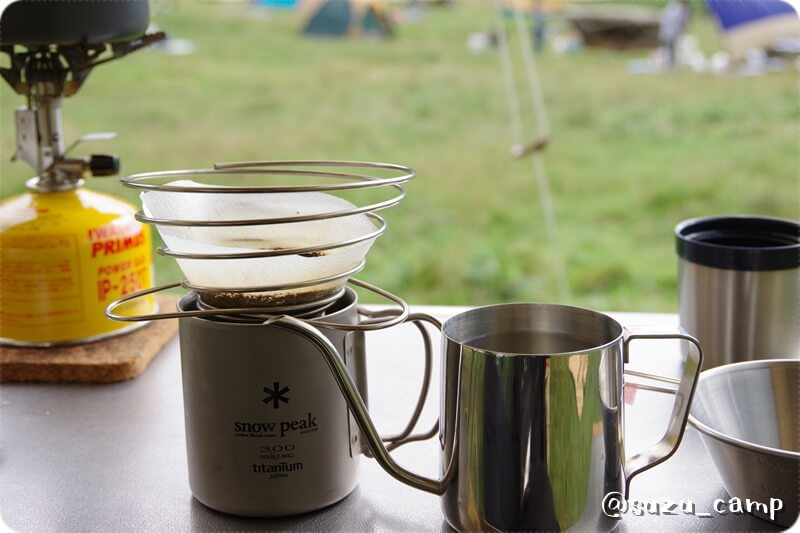 湯元キャンプ場 コーヒータイム