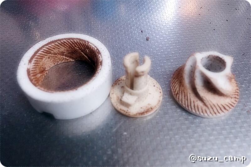 ポーレックスセラミックコーヒーミル 1回使用後