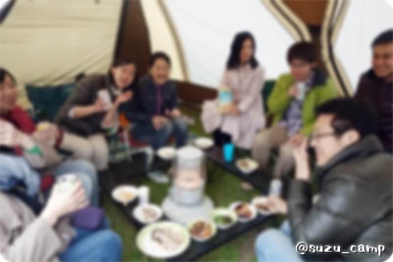 若洲公園キャンプ場 2015年4月 同窓BBQ