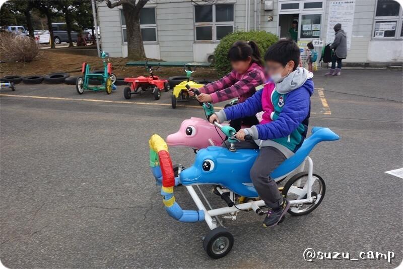 若洲公園キャンプ場 自転車