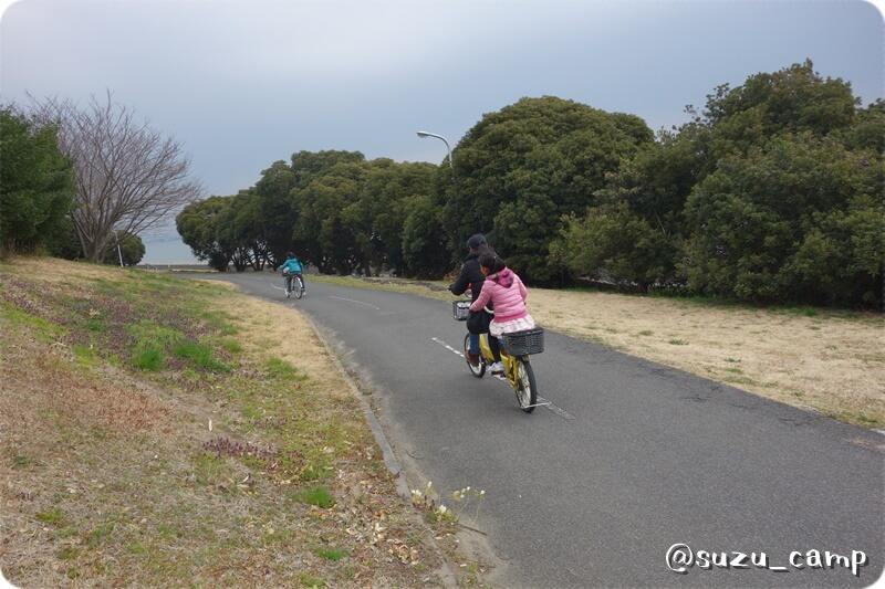 若洲公園キャンプ場 レンタサイクル