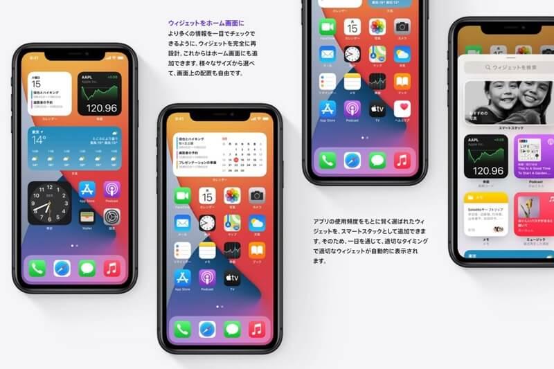 iPhone12 pro max ウィジェット