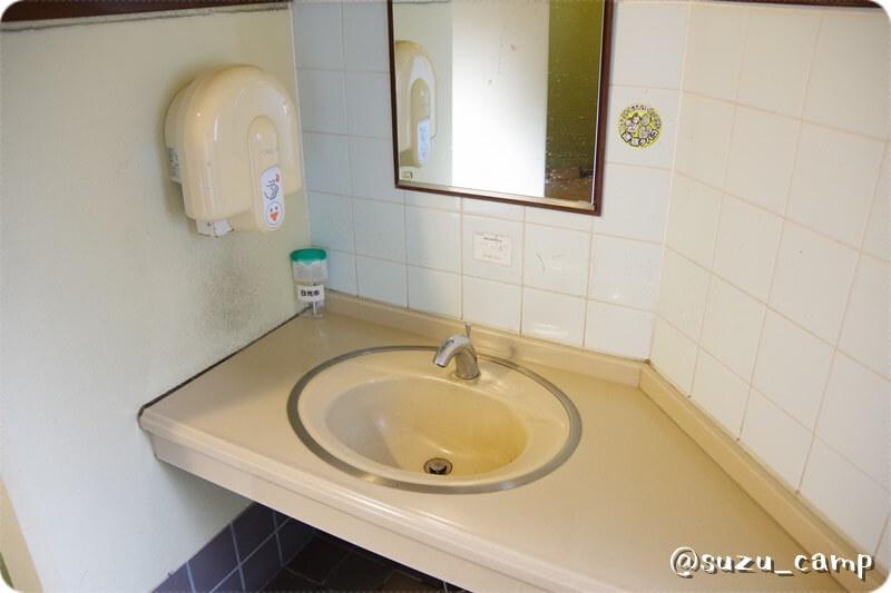 薬師の湯キャンプ場 トイレ