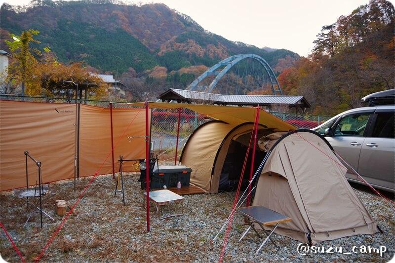 薬師の湯キャンプ場 2日目朝