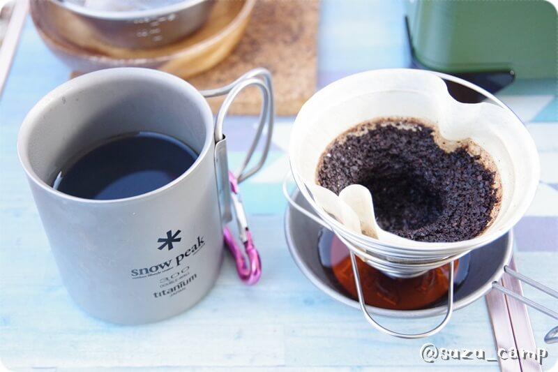 薬師の湯キャンプ場 コーヒー