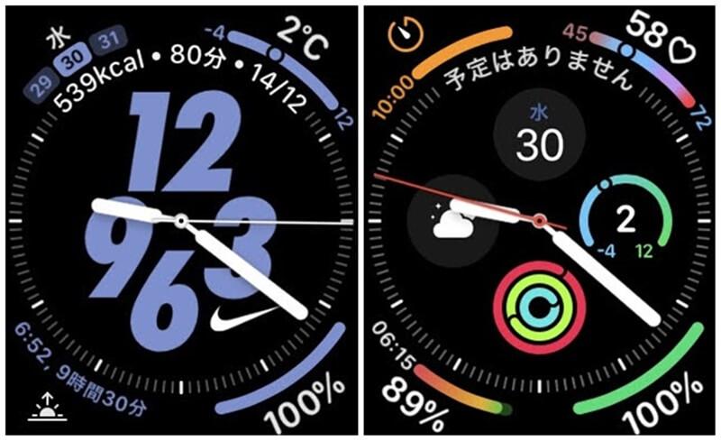 Apple Watch Nikeハイブリッド インフォグラフ