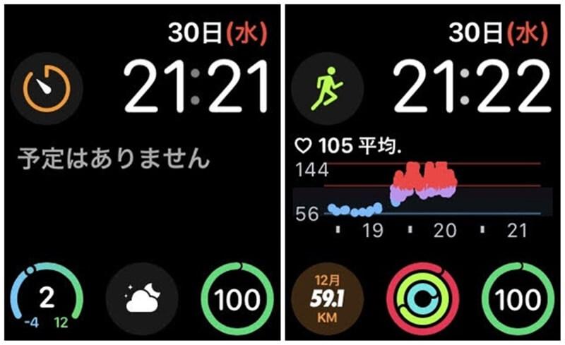 Apple Watch インフォグラフモジュラー