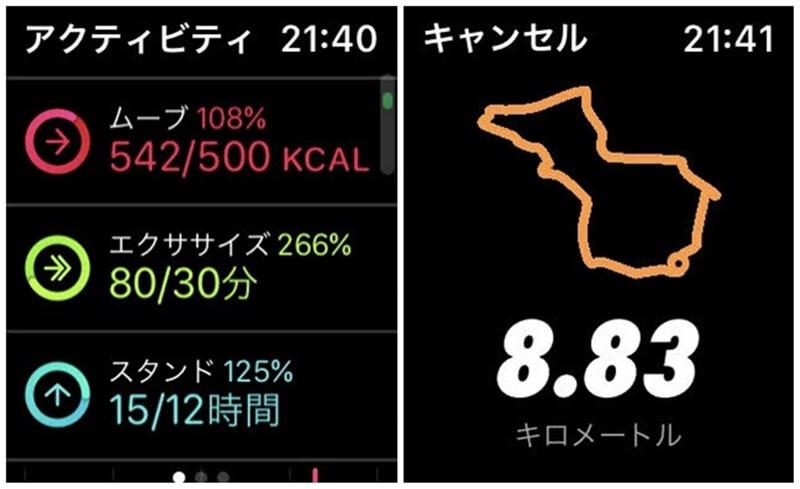 Apple Watch アクティビティ NIKE RUN CLUB