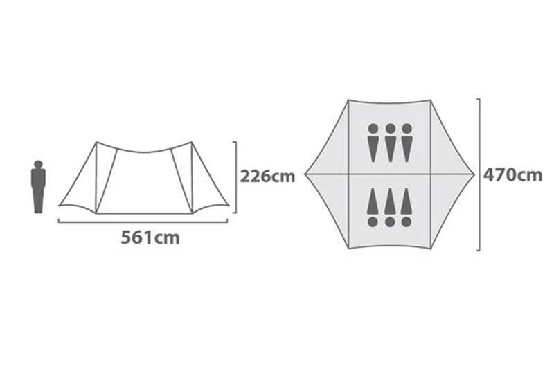 ヘキサライト エレメント 6P サイズ