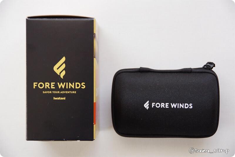 FORE WINDS マイクロキャンプストーブ 箱とケース