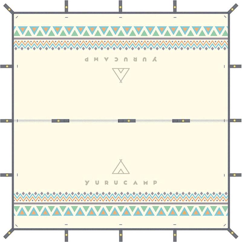 ゆるキャン△防水タープ 3x3m