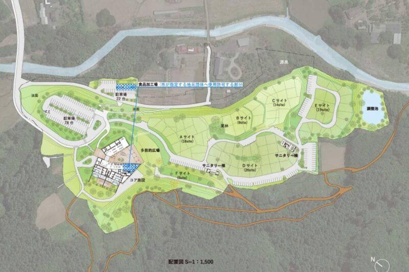 スノーピーク 鹿沼 全体配置図