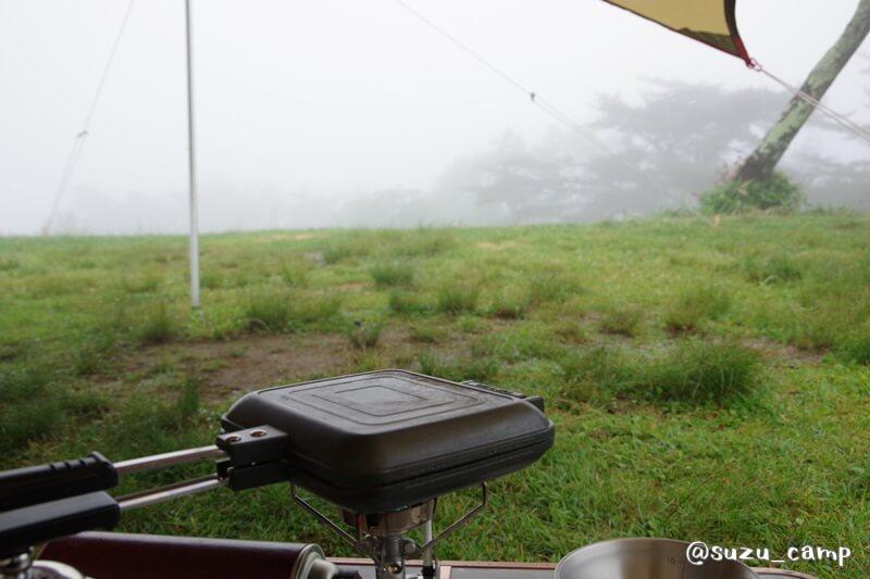 陣馬形山キャンプ場 朝食