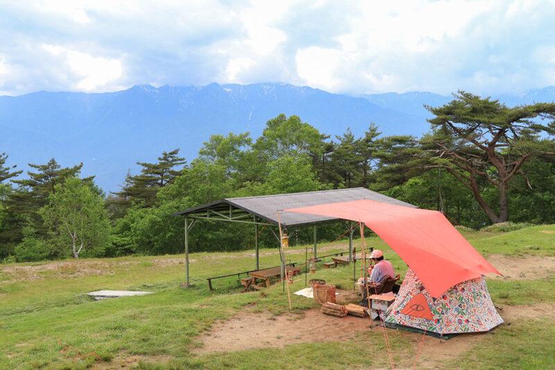 陣馬形山キャンプ場 空